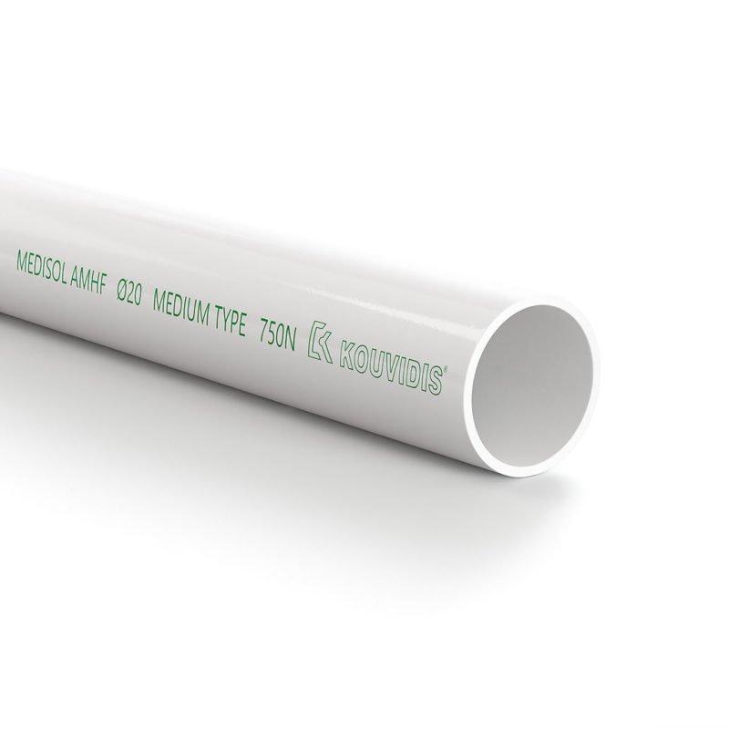 MEDISOL AMHF Άκαμπτος ευθύγραμμος σωλήνας ελεύθερος αλογόνων με αντιμικροβιακή τεχνολογία