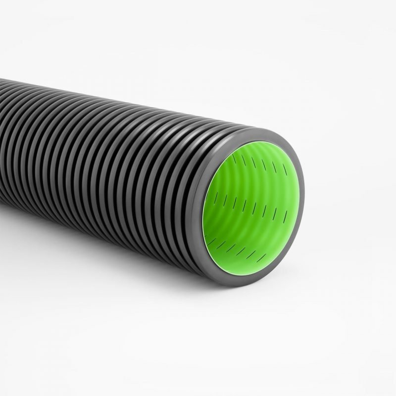 GEODRAIN double structured wall perforated rigid conduit