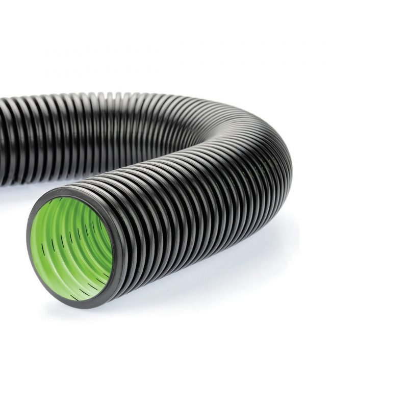 GEODRAIN double structured wall perforated pliable conduits
