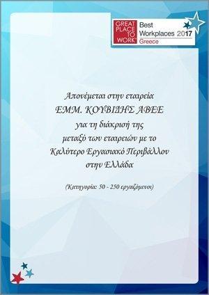 KOUVIDIS company certificates