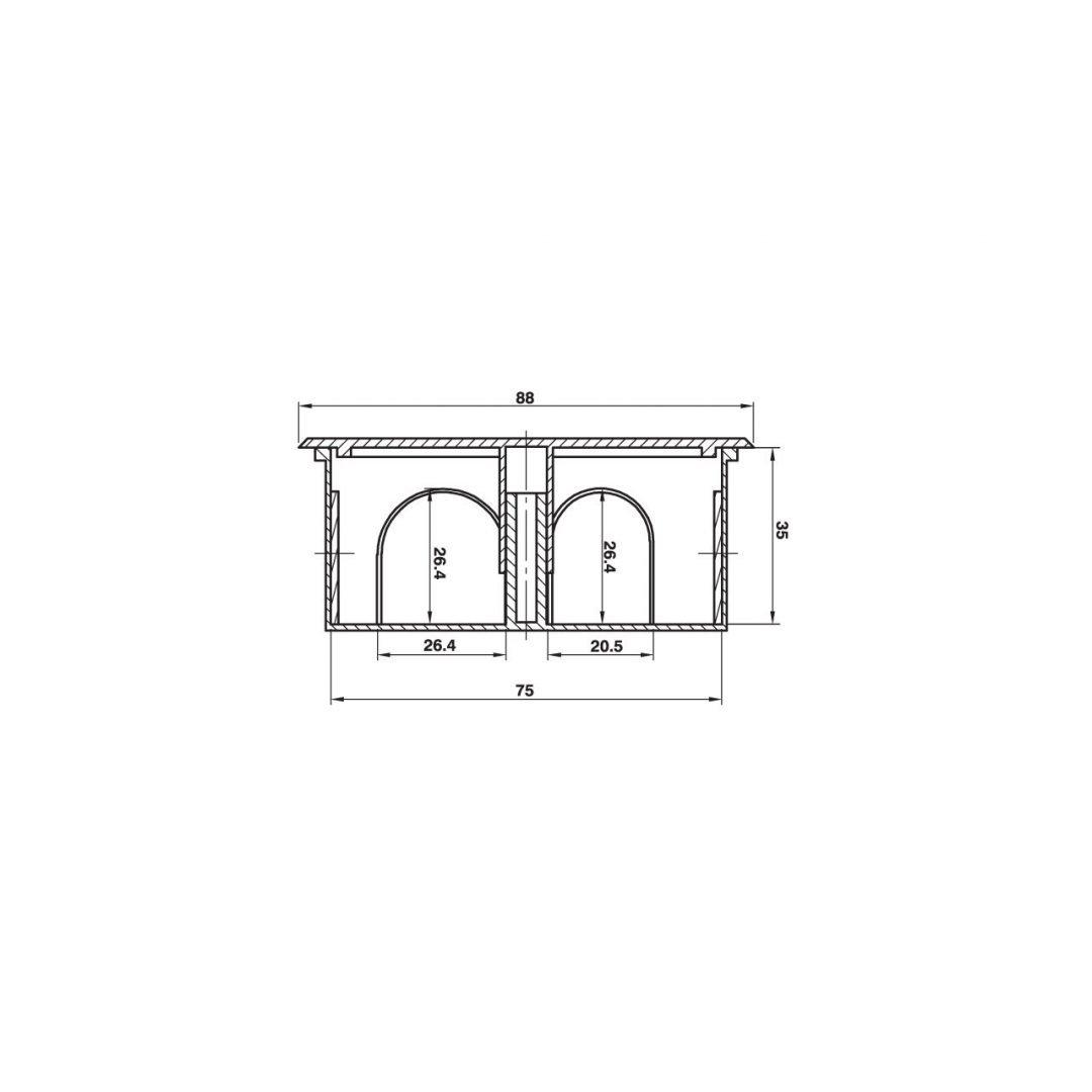 Cutie de joncțiuni pătrată 7,5 x 7,5