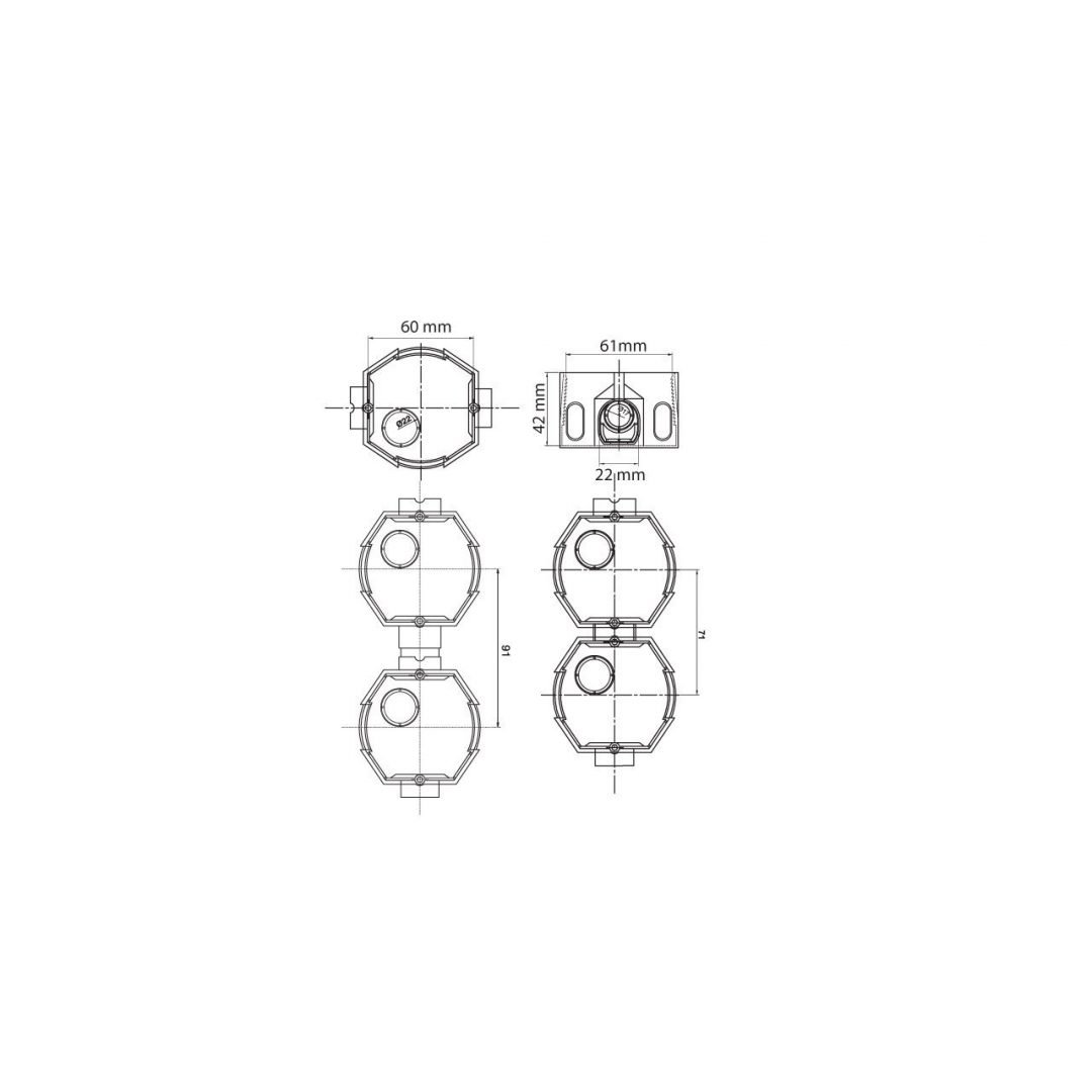 Multi combination gang switch box