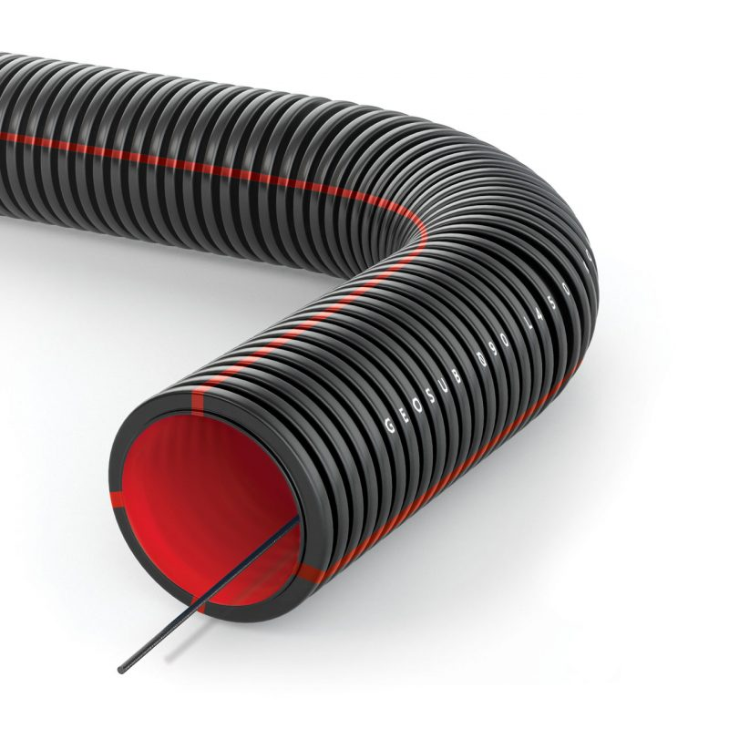 GEOSUB double structured wall pliable conduit
